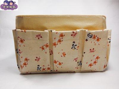 【露西小舖】╭*手作限量(貓熊同伴跳芭蕾)❤日雜熱銷款❤袋中袋包中包收納袋收納包多功能袋多功能包整理袋整理包手拿包(中)