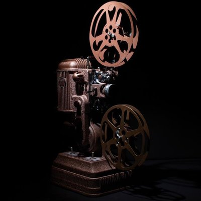 百寶軒 魔都洋貨1940年16毫米16mm美國AMPRO大力無聲古董老式放映電影機 ZG3458