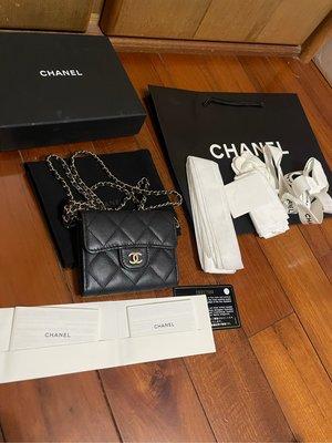 (售出)Chanel card holder with chain 超極無敵好看非LV hermes ysl bv Celine Loewe