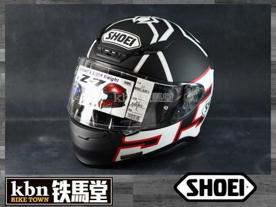 ☆KBN☆鐵馬堂 日本 SHOEI Z-7  安全帽 輕量 透氣 Z7 快拆鏡片 MARQUEZ BLACK ANT TC-5 黑白