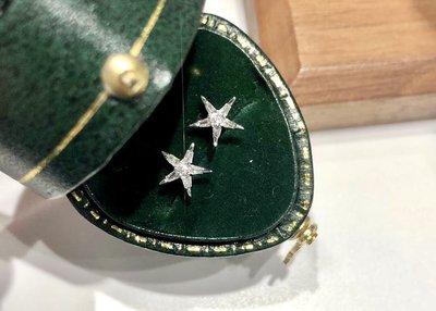 (陳淑芬手作)18k金天然鑽石耳環。15分,GF、SI。摘星有何難?幾千就戴一輩子了。「代理價,不退不議。」