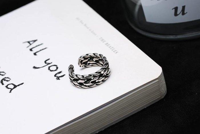 日韓時尚簍空圓管泰銀開口戒指單各入190元