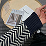 【NoComment】韓系休閒時尚 質感簡約 波浪斜紋圓領長袖針織毛衣 兩色 GUCCI ZARA