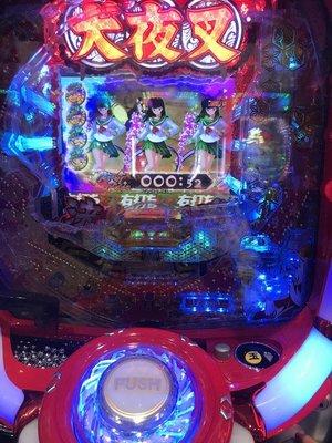 柯先生正日本原裝 2018年 CR 犬夜叉 漫畫迷小鋼珠柏青哥電玩迷享受東京電玩遊藝場的聲光效果刺激超酷炫遊戲室裝潢佈置