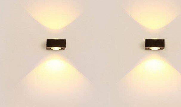 led壁燈 室內燈客廳臥室床頭燈現代簡約創意鋁材過道燈 雙面6W壁燈