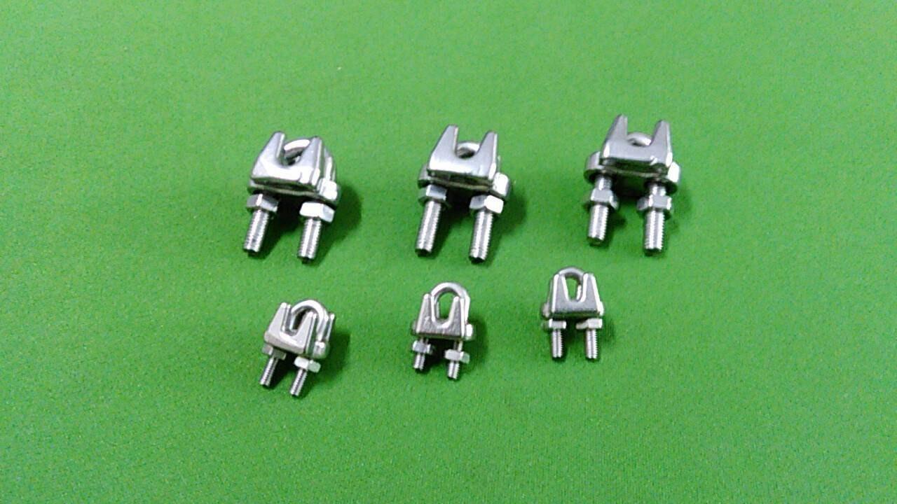不銹鋼鋼索夾 白鐵鋼索夾 2mm~16mm