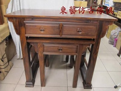 東藝仿古傢俱~~126(四尺二)方腳整套供桌/佛桌/神桌126*60*108公分