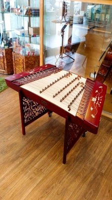 (((Musicman)))新402精選專業演奏級精品紅木貝雕荷花揚琴 台中市