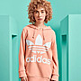 限時特價6折 南 2019 10月 Adidas trefoil hoodie 粉色 三葉草 帽T DV2560 粉紅色