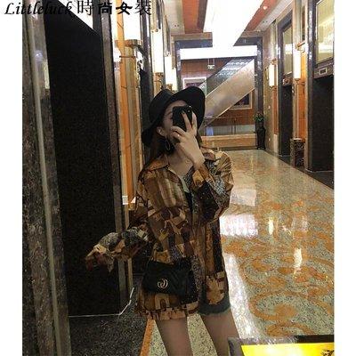 Littleluck~女裝很仙的上衣洋氣襯衫2019新款洋氣春款香港復古襯衫女設計感小眾