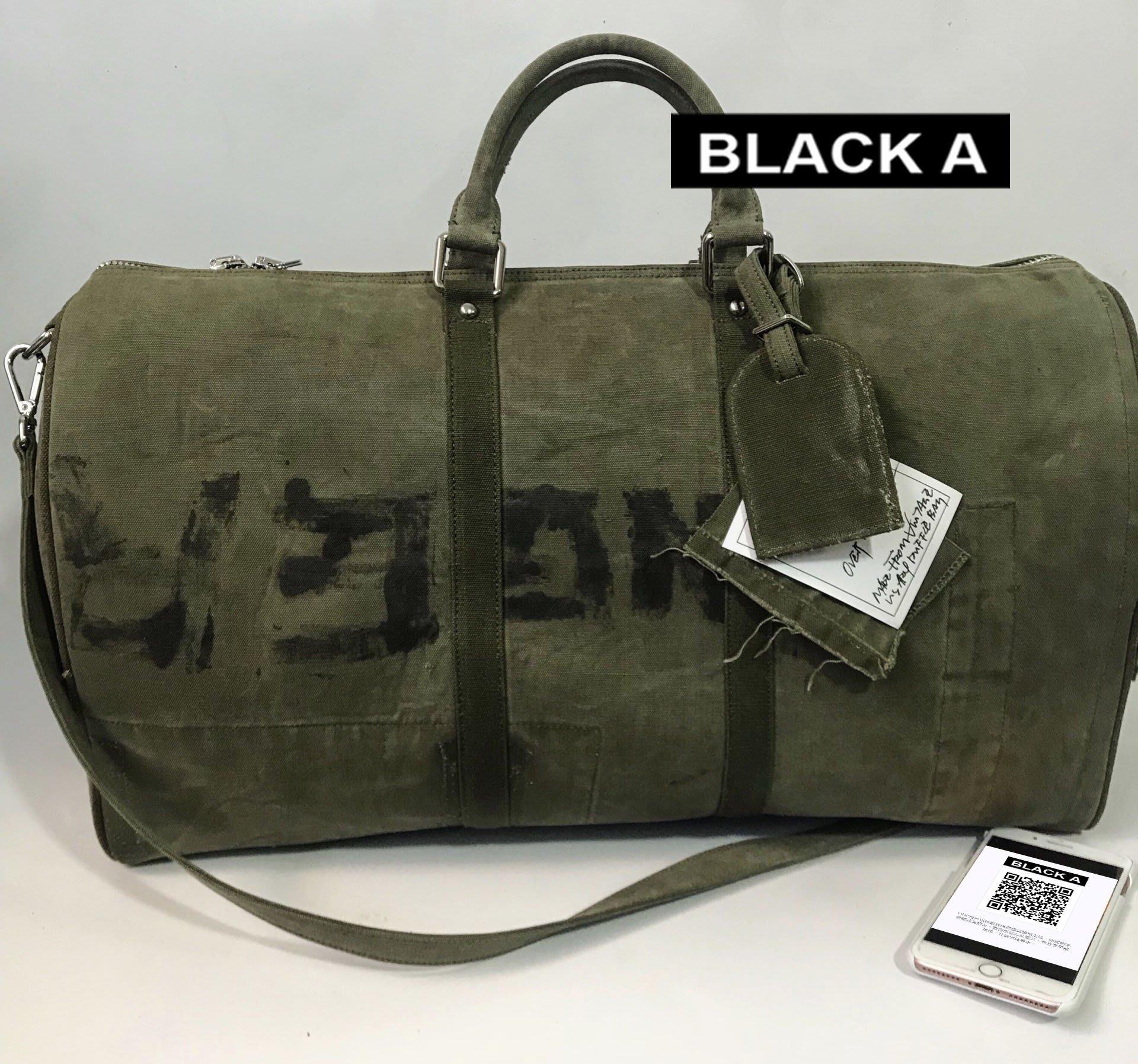 c273318996  BLACK A 獨家日本純手工細川雄太READYMADE Overnight Bag 軍布Keepall