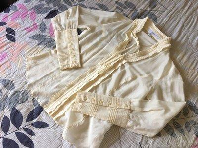 品專櫃正品 Zara 真絲 宮廷式 長袖襯衫