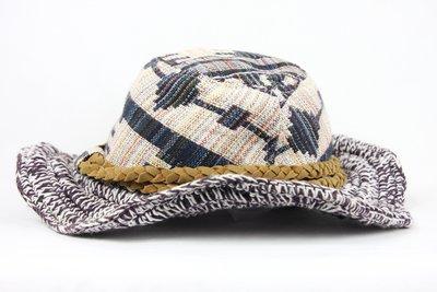 【古物箱~霹靂膠囊】日本品牌 美式圖騰 民族風 編織 古著系 街頭風 荷葉帽 漁夫帽(二手 老件 vintage)