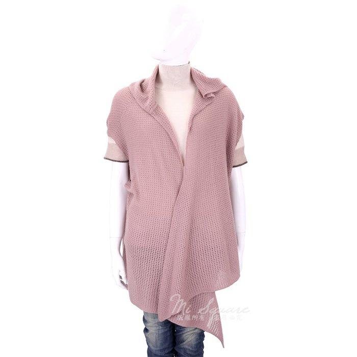 米蘭廣場 ALLUDE 粉色洞洞針織連帽喀什米爾羊毛罩衫/披肩(100%CASHMERE) 1710081-05