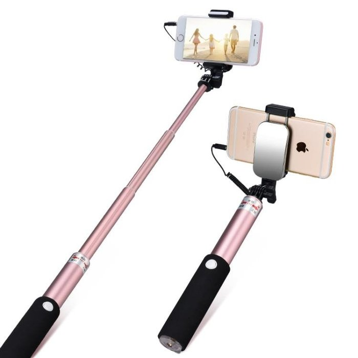 自拍桿通用型蘋果7拍照神器oppo直播x藍牙遙控支架8手機6三腳架干