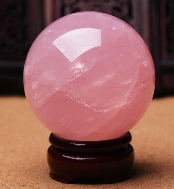 【開光粉水晶/4cm】開光粉水晶球擺件粉晶球擺件助愛情水晶粉色促姻緣