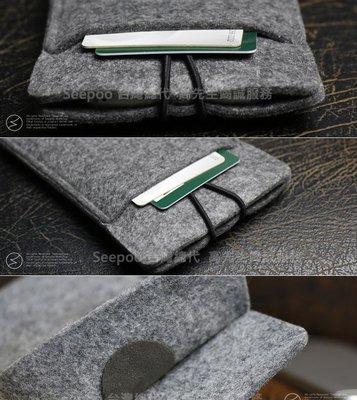【Seepoo總代】2免運拉繩款OPPO Fond X2 Pro 6.7吋羊毛氈套 手機殼 手機袋 白灰 保護套 保護殼