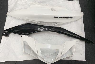 【600含運賣】新勁戰四代原廠 龍頭殼+左飛鏢+左側殼。無斷腳 無裂。被汽車倒車弄倒換下