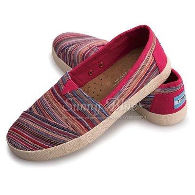 【TOMS】(女)TOMS Avalon 線條編織休閒樂福鞋*莓果色 台北市