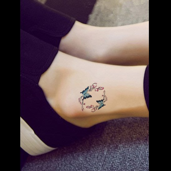 【萌古屋】蝴蝶單圖314 - 男女防水韓風簡約紋身貼紙刺青貼紙K13