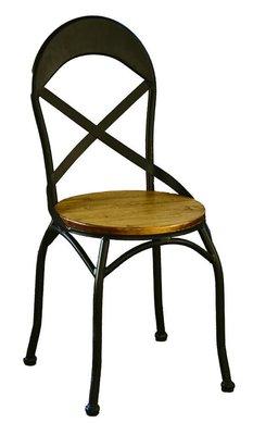 【生活家傢俱】JF-487-11◎馬卡胡桃餐椅【台中2200送到家】工業風實木椅 松木實木+烤漆鐵腳 鐵椅 鐵件 復古