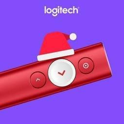 *缺貨*含發票羅技 SPOTLIGHT 簡報遙控器-聖誕紅