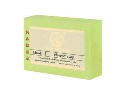 岡山戀香水~印度 Khadi 草本蘆薈手工精油香皂125g~優惠價:55元