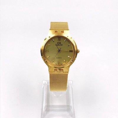 正品手錶專賣GARLAND金色圓盤羅馬字面休閒手錶石英男女錶