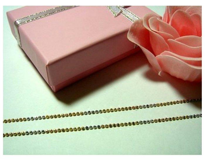 義大利三色K金鍊~14K金~585~ 可搭配各式鑽石 珍珠 玉 墬子 皆可--三色珠鍊子A0B88
