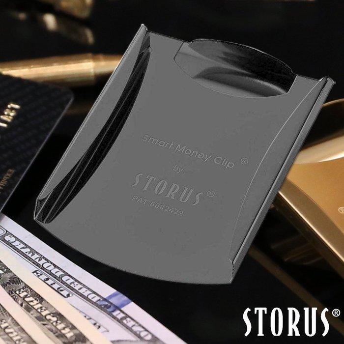 【美國STORUS】聰明錢夾 專利設計時尚鈔票夾―霧面黑 錢夾 卡夾 名片夾 西裝配件