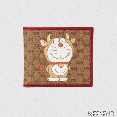 【WEEKEND】 GUCCI x DORAEMON 哆啦A夢 小叮噹 聯名 皮夾 卡夾 短夾 654498
