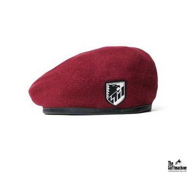 GOODFORIT / 日本品牌Softmachine TROOPS Beret軍事風格貼布貝雷帽款/三色
