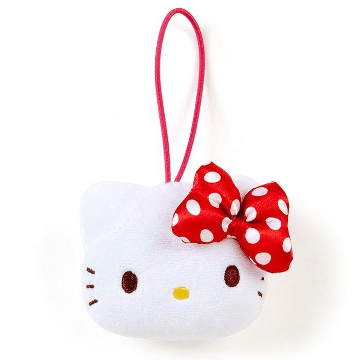 *Miki日本小舖*日本㊣版三麗鷗Hello Kitty凱蒂貓大頭造型絨毛有聲娃娃玩偶吊飾/掛飾