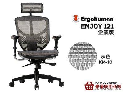 【HAW JOU人體工學椅專賣店】ENJOY121企業版-台製網-灰色KM-10(無贈品)