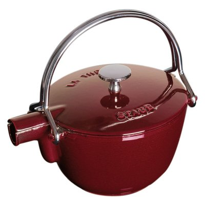法國Staub 鑄鐵 水壺 茶壺 1.15 L  16.5CM 圓形 法國製 (石榴紅)  耶誕禮物 尾牙贈品