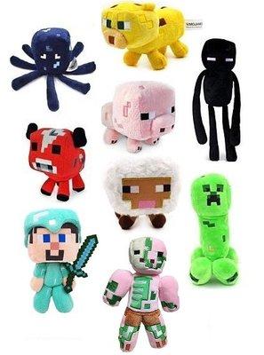 現貨Minecraft Creeper 娃娃布偶 麥塊我的世界JJ怪苦力怕末影人小黑公仔 絨毛玩偶