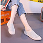 36-40 韓版女鞋 貝殼鞋 貝殼針織休閒鞋女 輕便單鞋 平底鞋 懶人鞋 板鞋女 針織小白鞋女