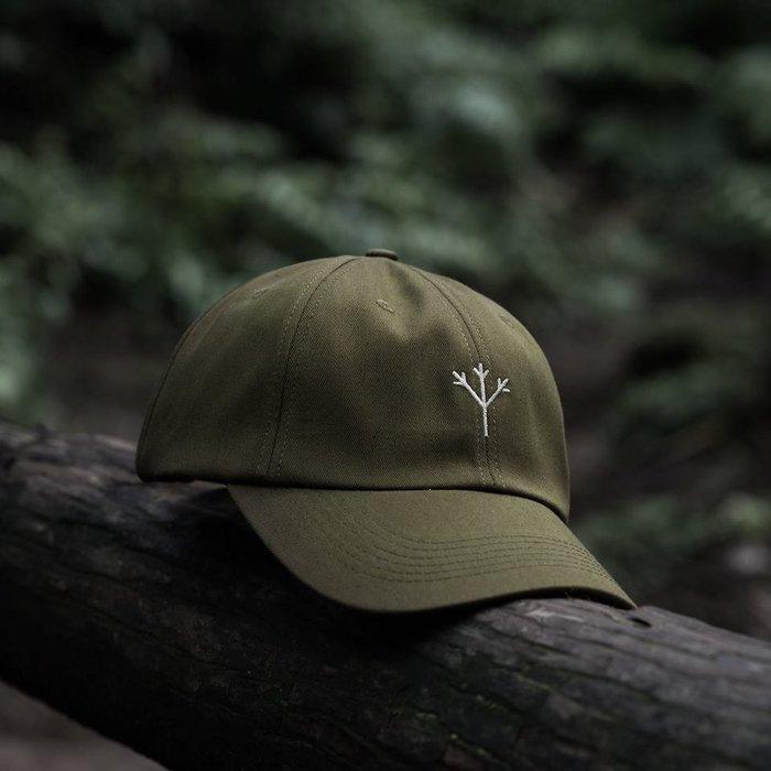 { POISON } MOONBLIND NATURE SYMBOL BASEBALL CAP 彎沿老帽 軍綠