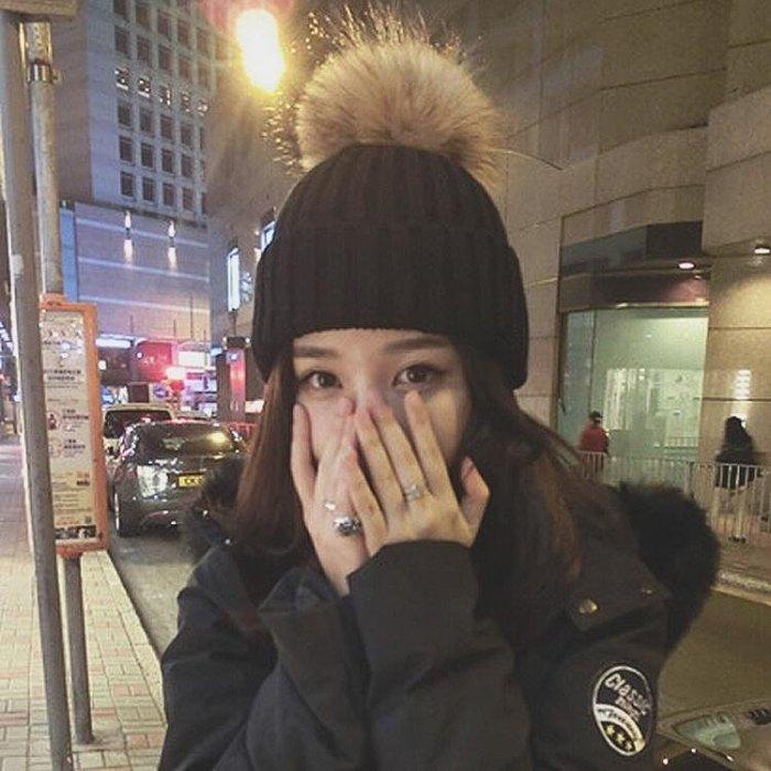 帽子女秋冬季韓版百搭學生毛球毛線帽針織加厚保暖