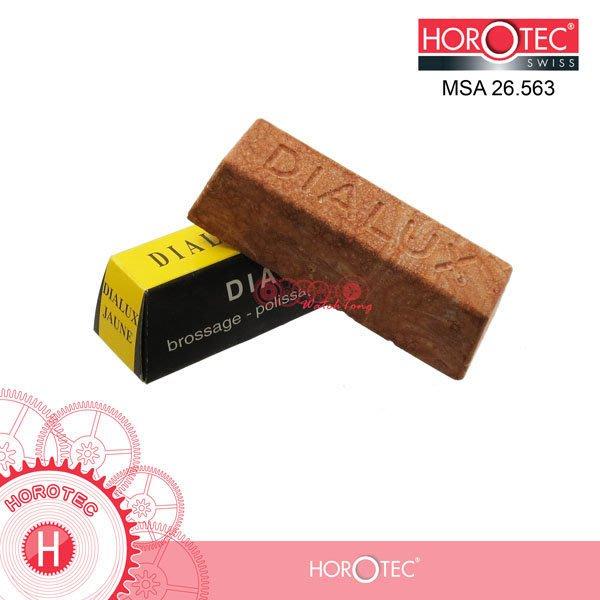 【鐘錶通】26.563 《 瑞士HOROTEC 》Dialux Yellow / 黃腊 / 拋光打亮合成金屬