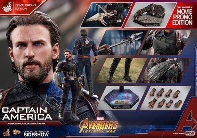 中古Hottoys captain america 美國隊長會場 movie promo avengers 3 infinity-war dr