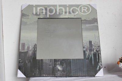 INPHIC-歐式風格家居飾品 木質工藝 遊走世界鏡子 掛鏡 裝飾鏡