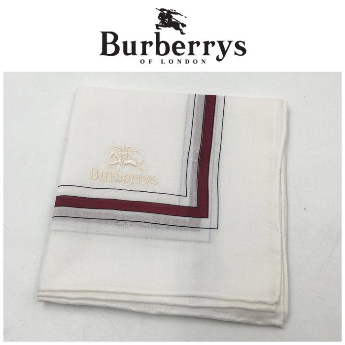 【皮老闆二店】二手真品 Burberry 手帕 手24