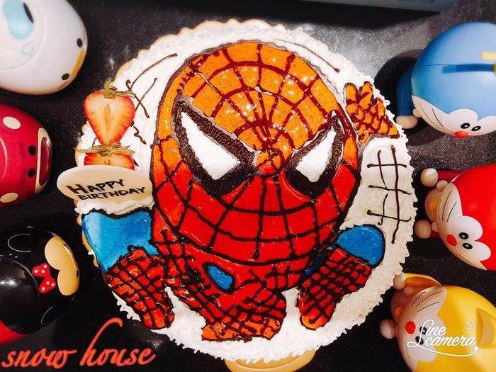 ❤ 歡迎自取 ❤ 雪屋麵包坊 ❥ 八吋生日蛋糕 ❥ 我是蜘蛛人 ❥❥ 送彩色蠟燭唷