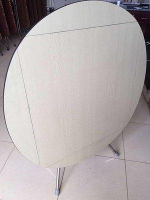 圓形簡易摺疊餐桌正方形桌實木可吃飯桌大圓桌小戶型家用摺疊飯桌