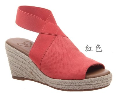 【念鞋M265】MADELINE/Sonoma Vitalize 麻邊坡跟涼鞋US8-US11(27.5cm)大腳,大尺