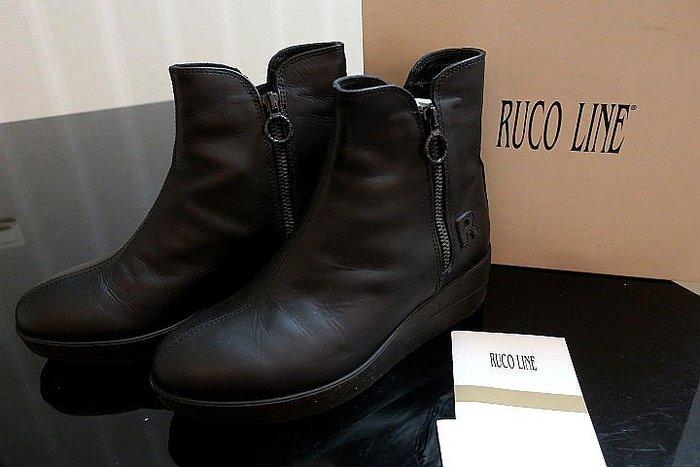 *Beauty*RUCO LINE黑色厚底短靴 38號  原價16900元 PH