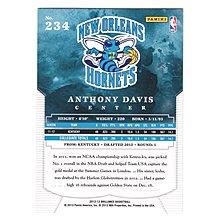 倒數2張!(RC) 一眉哥 Anthony Davis 狂漲Brilliance Rookie系列新人RC銀面卡 #234! 2012-13