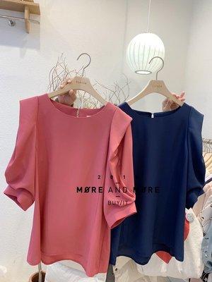 ☻☺白色/粉紅色現貨☺☻🌹FEBRUARY春神來了🌹韓國連線-正韓高質感袖子設計雪紡上衣