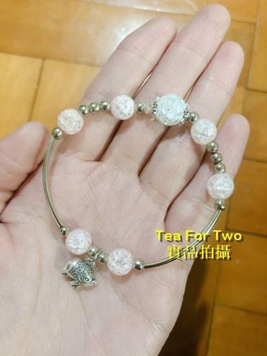 泰國正品(現貨TP) - 粉色系~唯美彈性大象裝飾手鍊